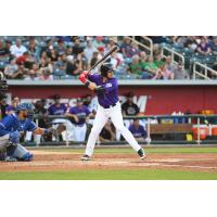 Brendan Rodgers at bat for the Albuquerque Isotopes
