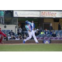Nate Eaton of the Lexington Legends takes a big swing