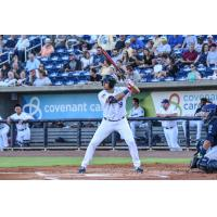 Alex Kirilloff of the Pensacola Blue Wahoos at the plate