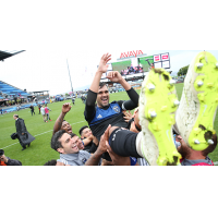 San Jose Earthquakes celebrate forward Chris Wondolowski's goals record