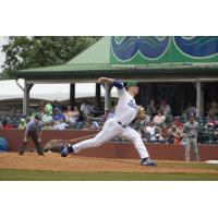 Lexington Legends pitcher Jon Heasley delivers