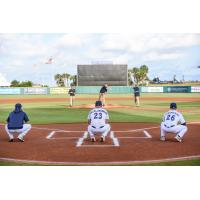 First pitch with the Pensacola Blue Wahoos
