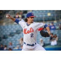 Syracuse Mets pitcher Chris Mazza allowed just three hits and one run in seven innings pitched on Friday night