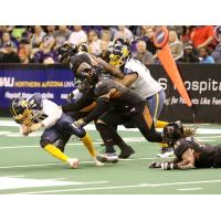 The Arizona Rattlers defense smothers the Cedar Rapids Titans
