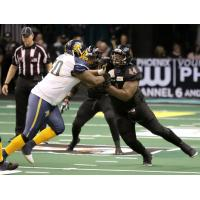 Lance McDowdell of the Arizona Rattlers (right) vs. the Cedar Rapids Titans
