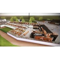 Overview of Leinenkugel's Hop Yard at Routine Field