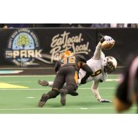 Phillip Henry of the Arizona Rattlers tackles the Tucson Sugar Skulls