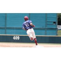 Christian Lopes of the Frisco RoughRiders rounds the bases