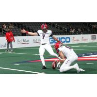Washington Valor kicker Pat Clarke and holder Jared Dangerfield