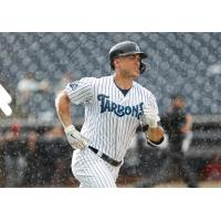Giancarlo Stanton rounds the bases for the Tampa Tarpons