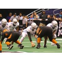 Arizona Rattlers defense lines up against the San Diego Strike Force