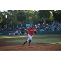 Max Burt of the Charleston RiverDogs drove in three runs with a 2-3 showing in the losing effort Friday night