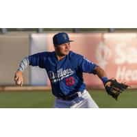 Gavin Lux of the Tulsa Drillers notched an RBI single in the Drillers 5-3 victory over Frisco on Monday night