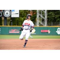 Ian Miller legs out a triple for the Tacoma Rainiers
