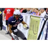 Sioux Falls Storm running back Calen Campbell against the Tucson Sugar Skulls