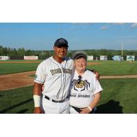 Andrew Bullock of the Fond du Lac Dock Spiders and Betty Trent