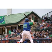 Chase Vallot of the Lexington Legends awaits a pitch
