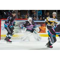 Kelowna Rockets in action against the Brandon Wheat Kings
