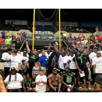 West Virginia Roughriders celebrate the American Arena League title