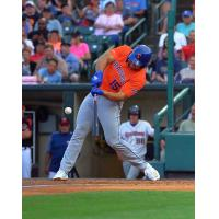 Tim Tebow had two hits, including a home run, and scored two runs for the Syracuse Mets on Tuesday night