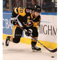 Jarrett Burton with the Wilkes-Barre/Scranton Penguins