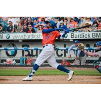 Rajai Davis had three hits on Saturday night for the Syracuse Mets