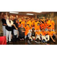 Long Island Ducks celebrate first half Liberty Division Title