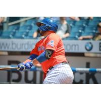Rene Rivera hit a three-run home run for the Syracuse Mets on Sunday afternoon