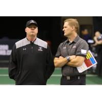 Arizona Rattlers head coach Kevin Guy (left)