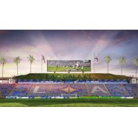Rendering of Safe-Standing Supporters' Section at Dignity Health Sports Park