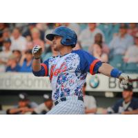 Travis Taijeron hit a two-run home run for the Syracuse Mets on Thursday night