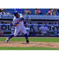 Rene Rivera hit a go-ahead, two-run home run for the Syracuse Mets in the bottom of the eighth inning on Sunday afternoon
