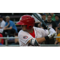 Jackson Cluff of the Hagerstown Suns hit his first professional homer in the second inning and drove in the game-winning run in the 10th inning
