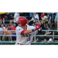 Jacob Rhinesmith hit his seventh home run of the season in the Hagerstown Suns' 9-3 loss to Greensboro Tuesday