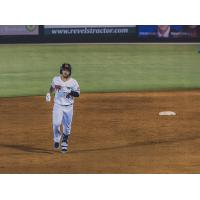 Mario Feliciano of the Carolina Mudcats rounds the bases