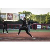 Chicago Bandits pitcher Rachele Fico delivers