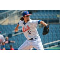 Chris Mazza was perfect through five innings for the Syracuse Mets Wednesday afternoon