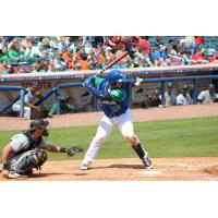 Chase Vallot of the Lexington Legends at the plate