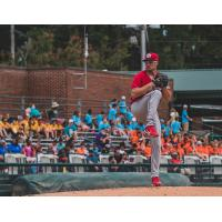 Carolina Mudcats pitcher Aaron Ashby