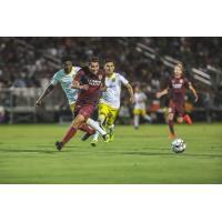 Sacramento Republic FC races to the ball against New Mexico United