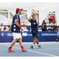 Washington Kastles owner Mark Ein and Kastles rising star Yoshi Nishioka got the match started for the Stars
