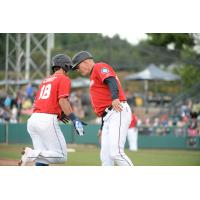 Ryan Court rounds the bases for the Tacoma Rainiers