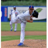 Drew Gagnon collected a career-high 13 strikeouts for the Syracuse Mets on Sunday afternoon