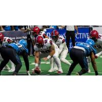 Washington Valor quarterback Arvell Nelson prepares to take a snap against the Philadelphia Soul