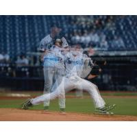 Tampa Tarpons pitcher Trevor Stephan devilers a pitch