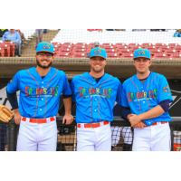 Wisconsin Timber Rattlers in their Cascabeles de Wisconsin uniforms
