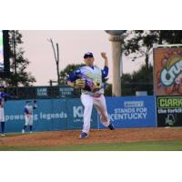 Lexington Legends pitcher Bryce Hensley in his SpongeBob SquarePants jersey