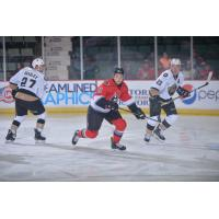 John Edwardh (center) with the Adirondack Thunder