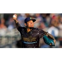 Felix Hernandez pitching with the Everett AquaSox