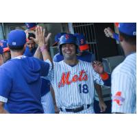 Danny Espinsoa had two hits, including a home run for the Syracuse Mets on Tuesday night